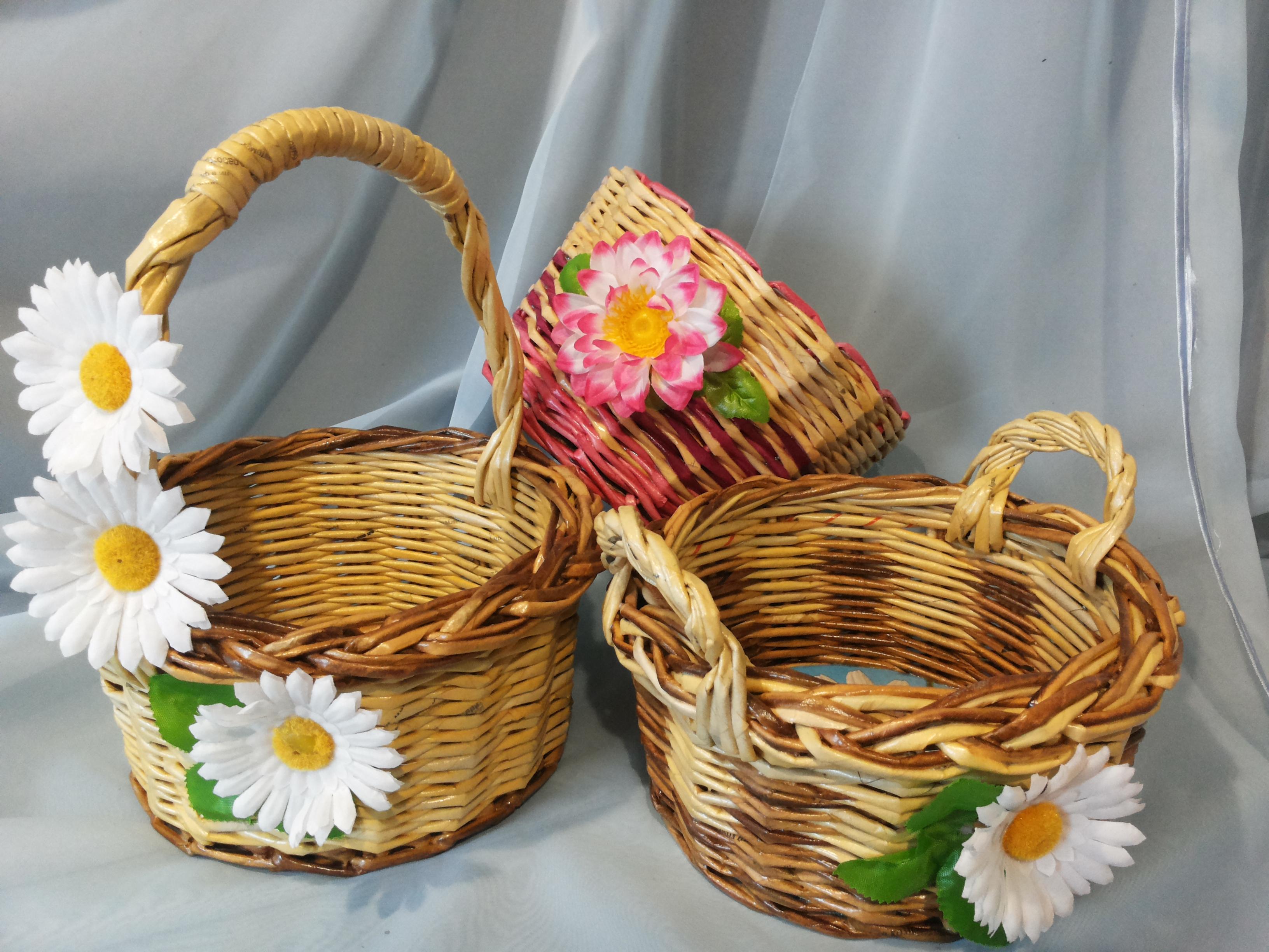 Декоративная корзинка из бумаги