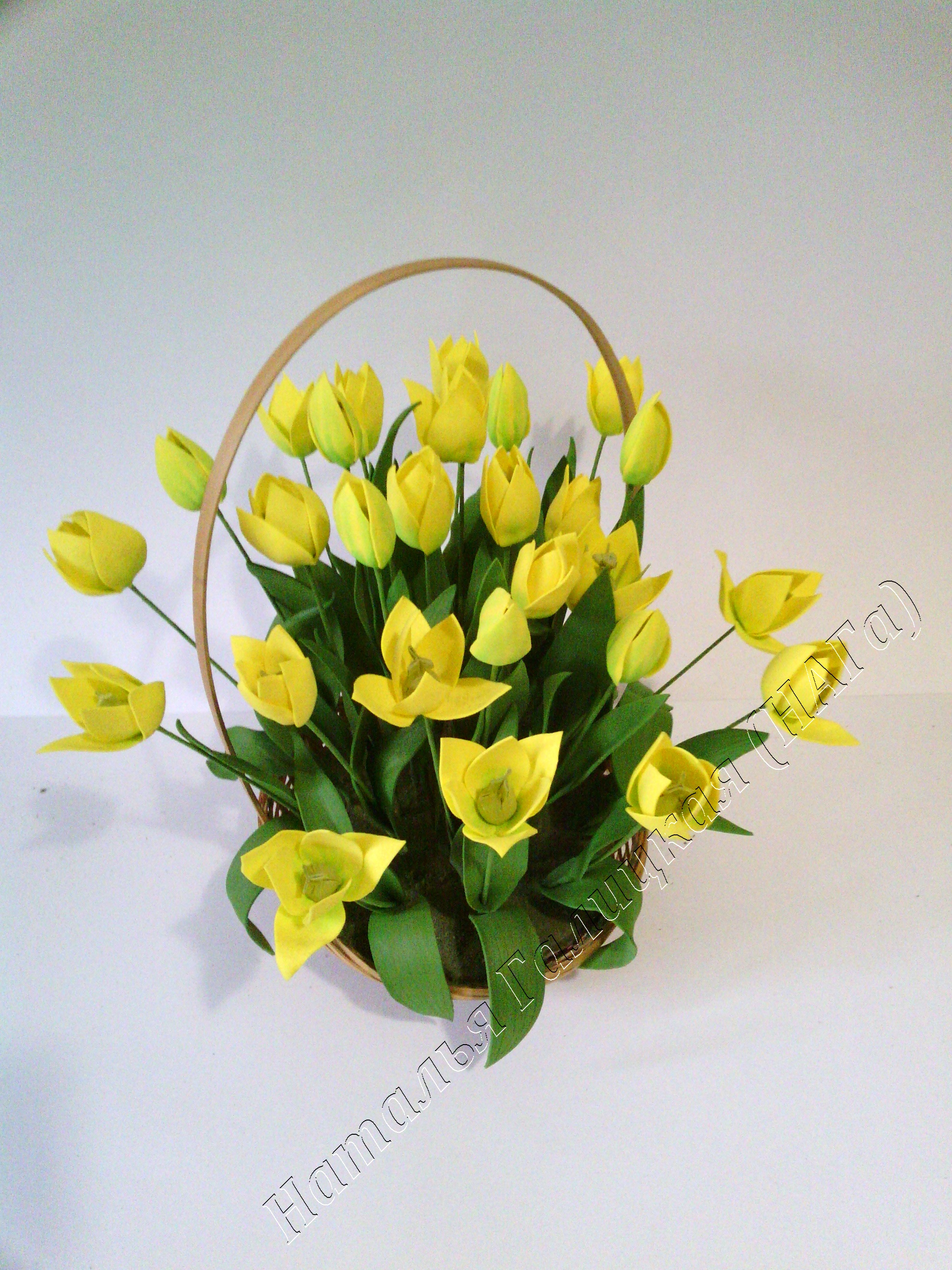 Весенние цветы из фоамирана своими руками