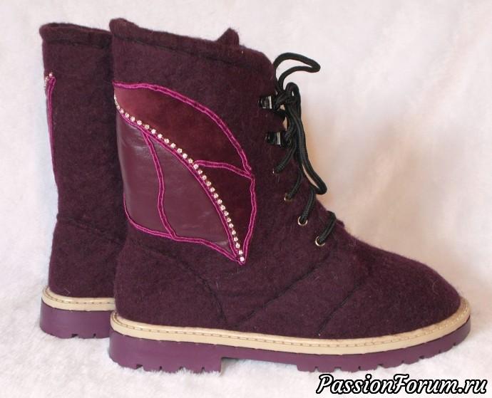 Туфельки и ботинки, ботинки валяные, туфли валяные, валяная женская обувь, шерсть 100%, бергшаф