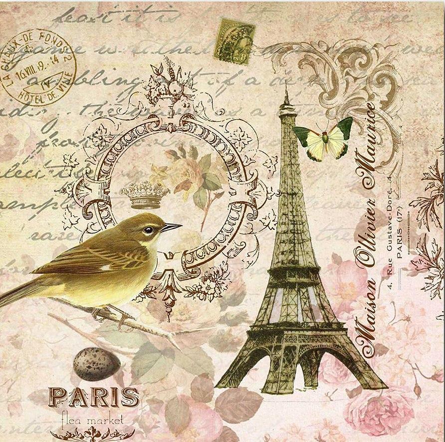 Картинки по запросу декупаж картинки париж