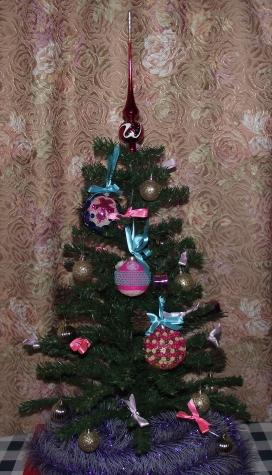 Новогодние шарики на ёлку
