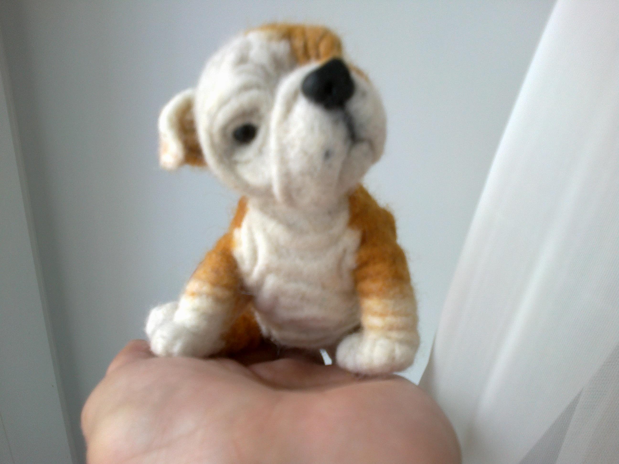 схема вязания щенка спицами для ребенка до года