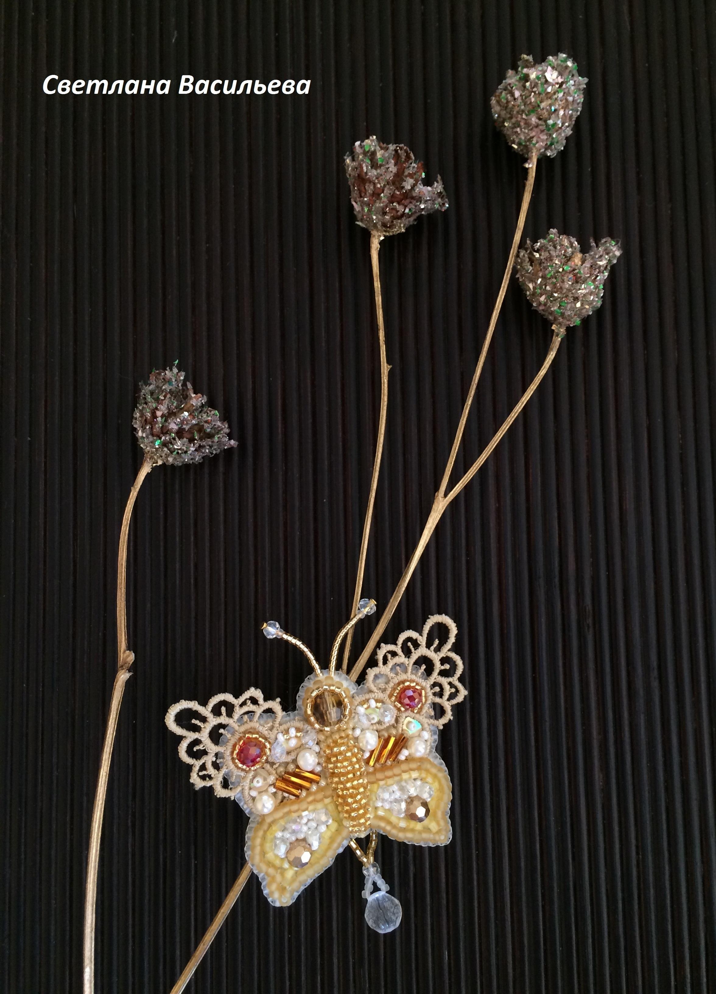 Брошь бабочка великолепное украшение