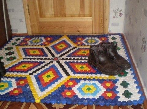 Мастер класс коврик своими руками из пробок