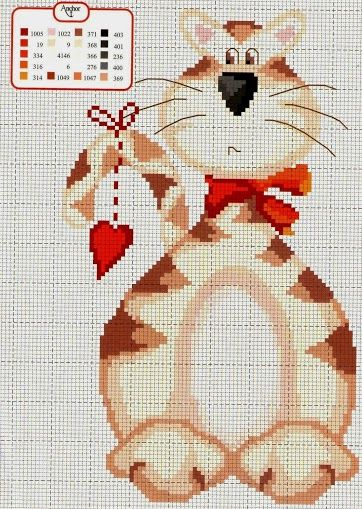 Вышивка крестом котенок на