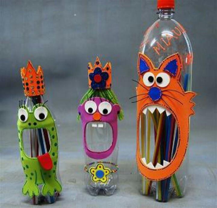 Поделки для школы своими руками из пластиковых бутылок