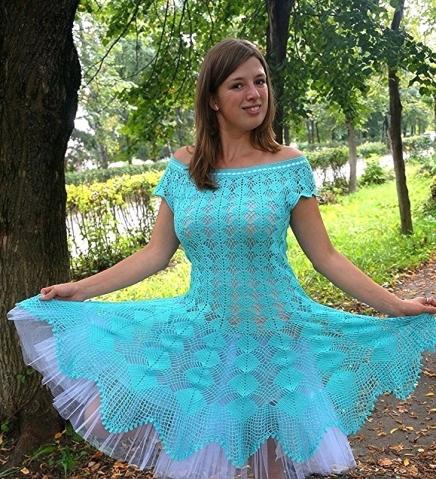 Голубое платье Кайли Миноуг