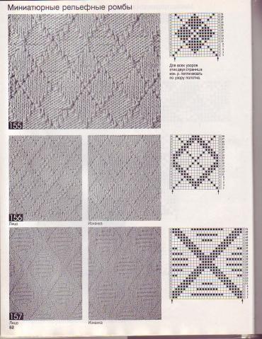 Вязание спицами узоры ромбами с описанием и схемами 937