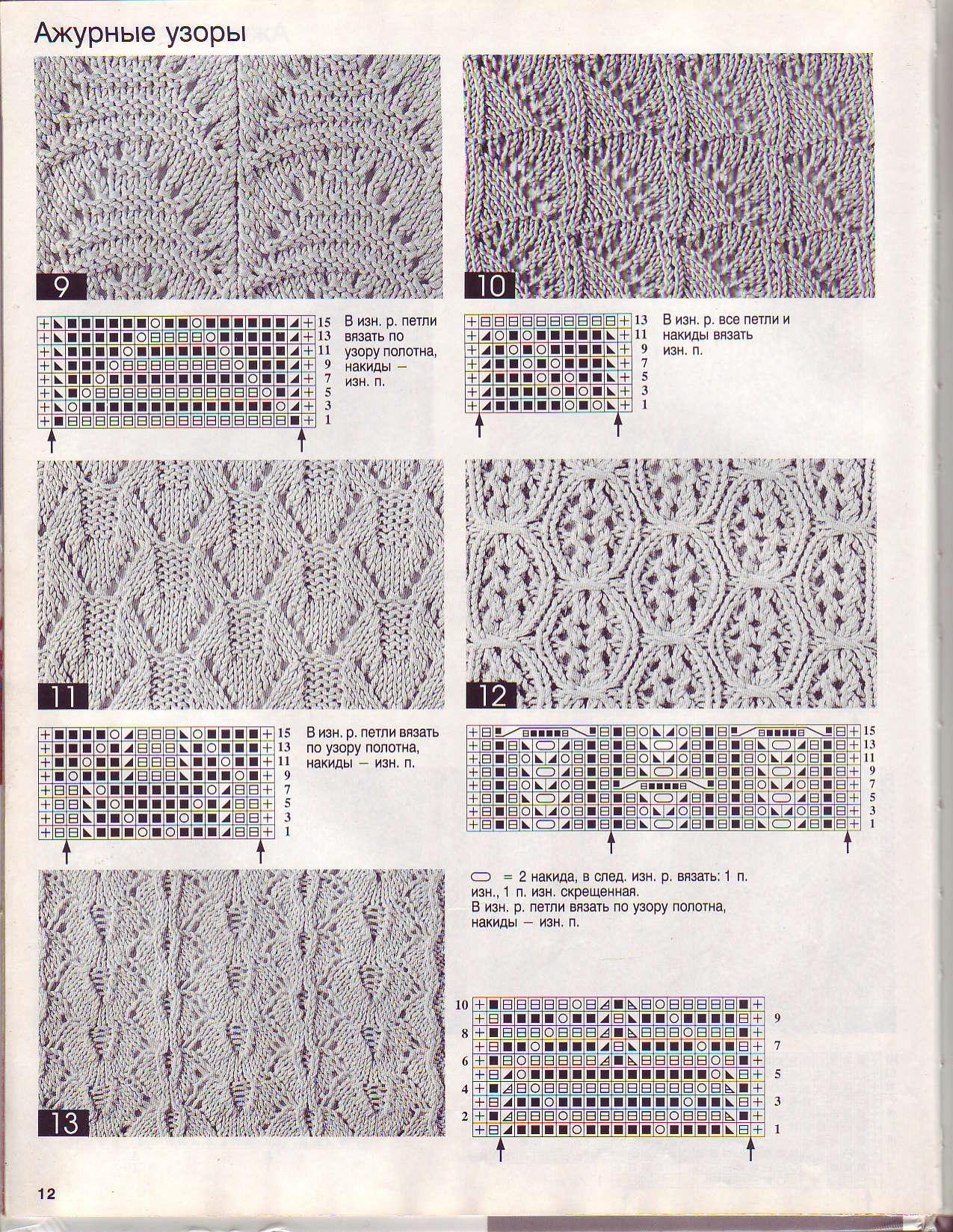 Схема вязания спицами ажурные узоры схема вязанияспицами 26