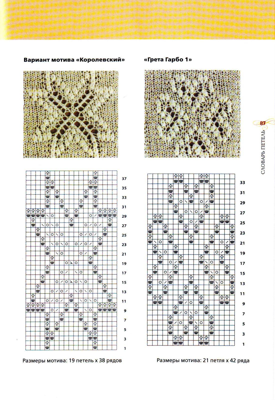 Узоры для вязания спицами для паутинок