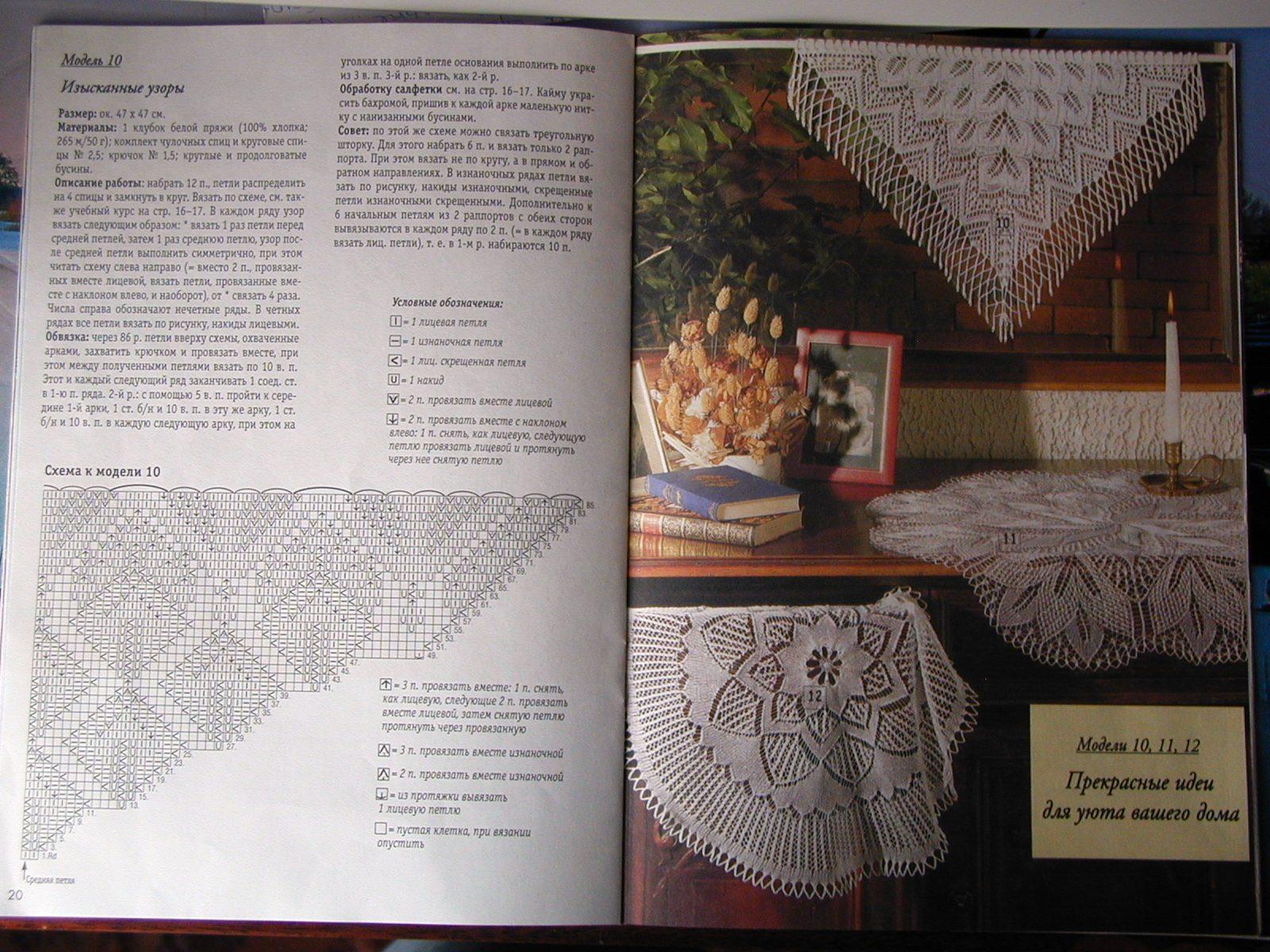Вязание спицами салфеток и скатертей с инструкцией 71