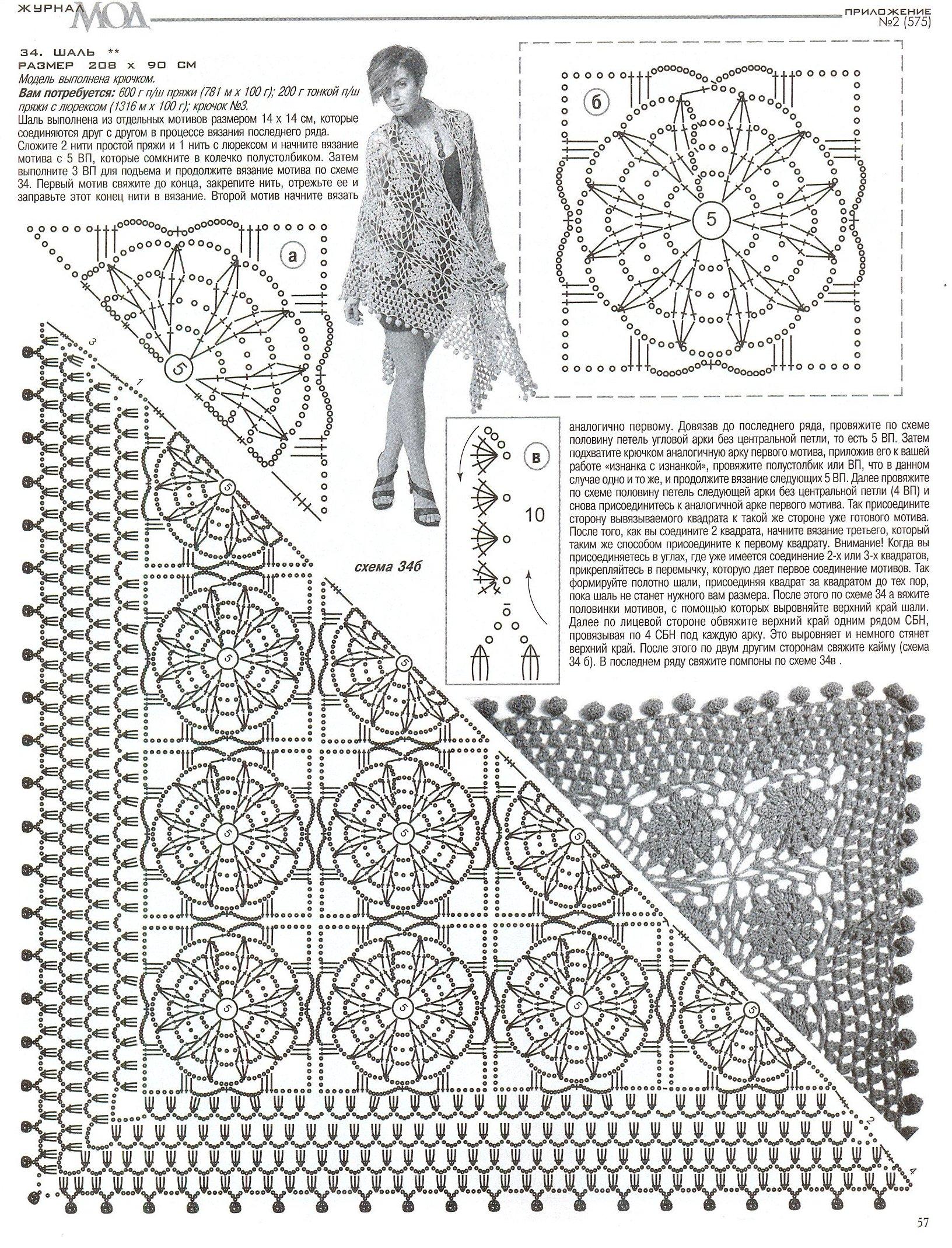 Журнал вязания шалей крючком 82