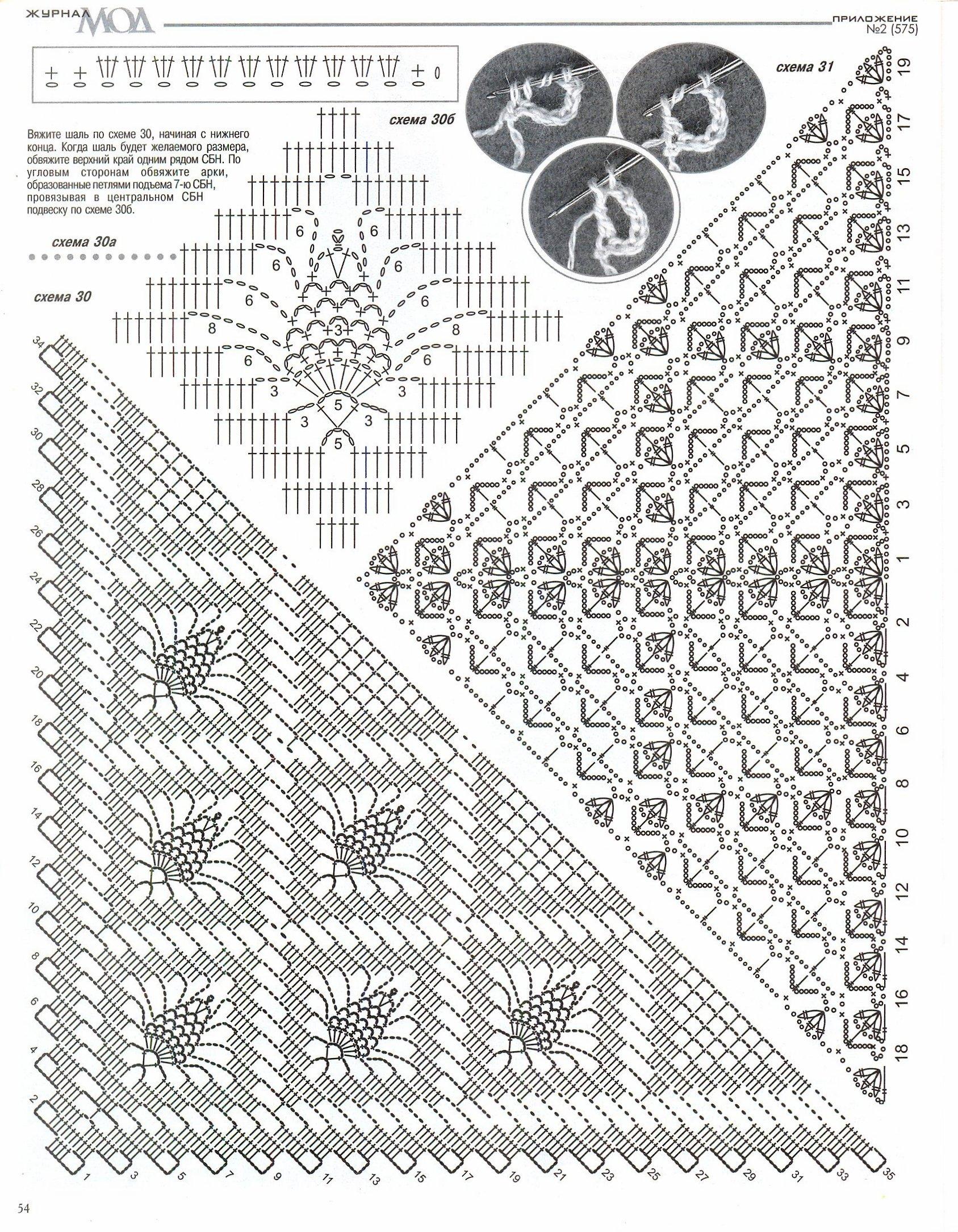 Журнал вязания шалей крючком 3