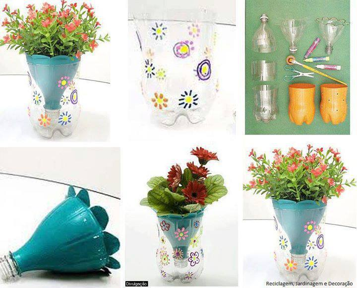 Цветочные горшки своими руками из пластиковых бутылок