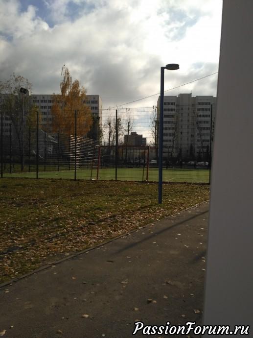 Огороженное футбольное поле