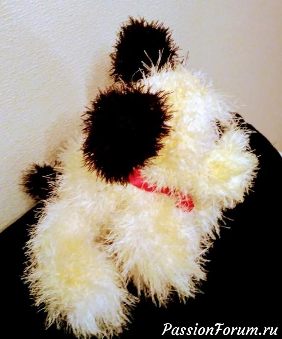 Был белым, стал желтым. Год желтой собаки. Обсыпала куркумой.