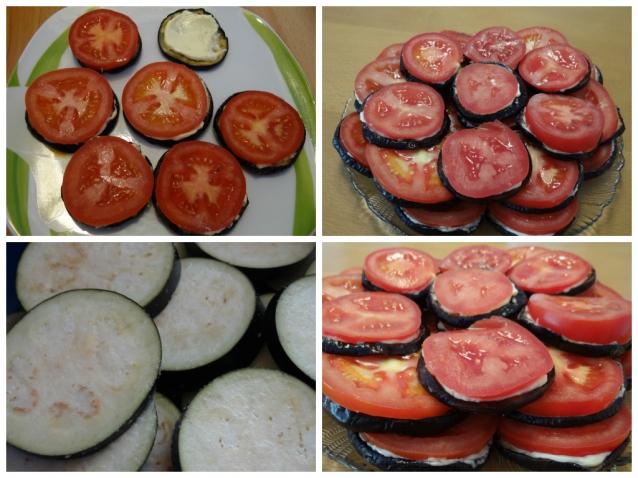 Баклажаны с помидорами (не жирные)