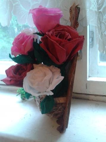 цветы из гофрированой бумаги