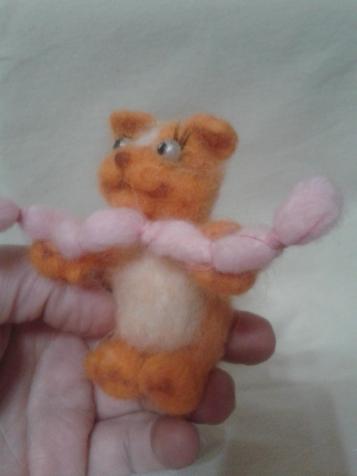 моя первая игрушка из шерсти