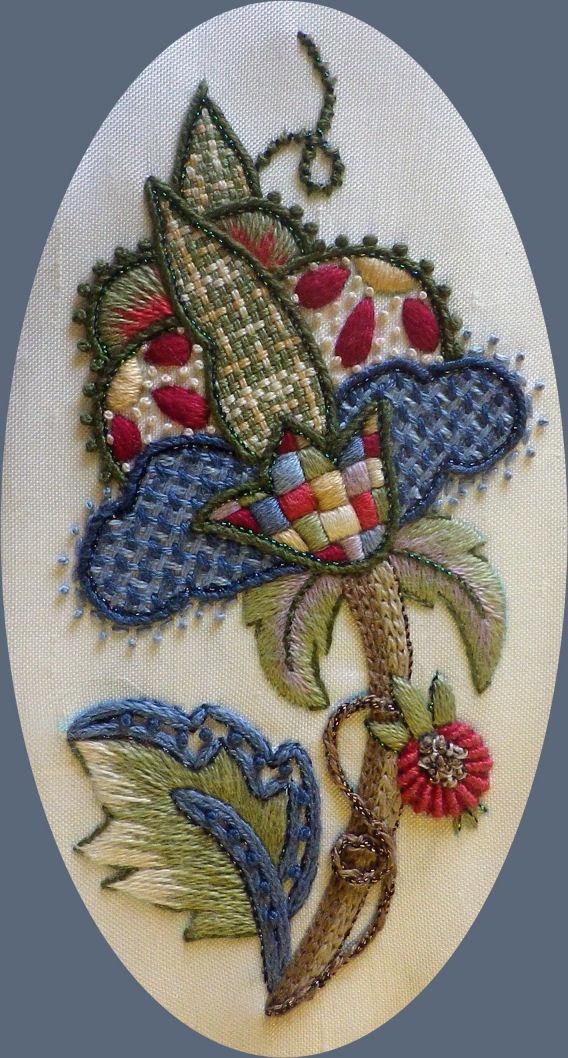Якобинская вышивка мастера