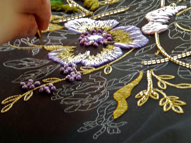 Вышивка тамбурный шов крючком