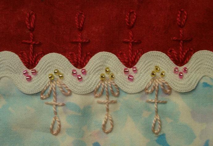 Тесьма декоративная вышивка