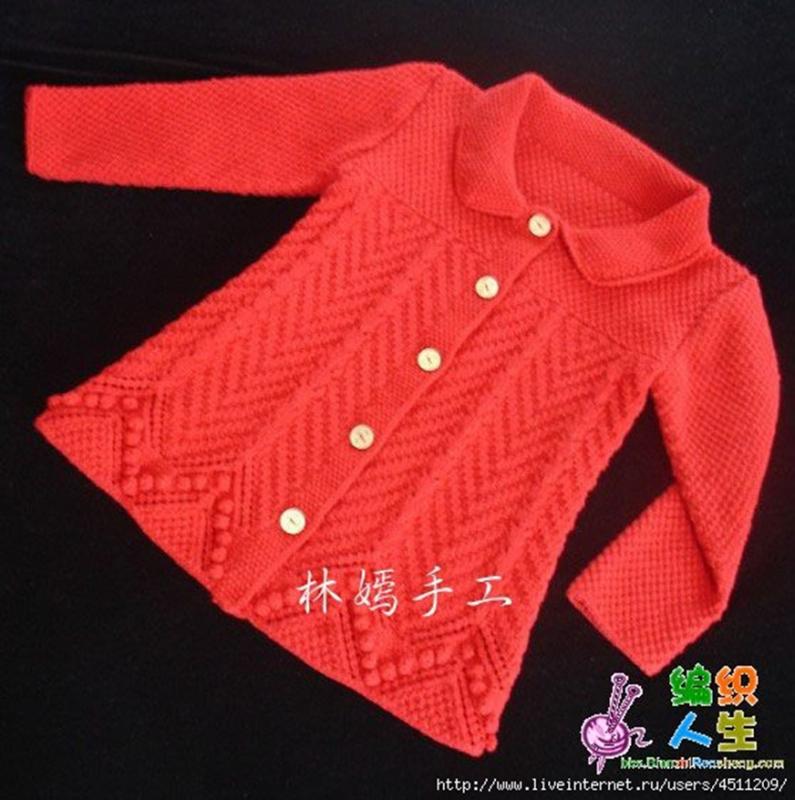 Детская кофточка (впервые имитацией втачного рукава)