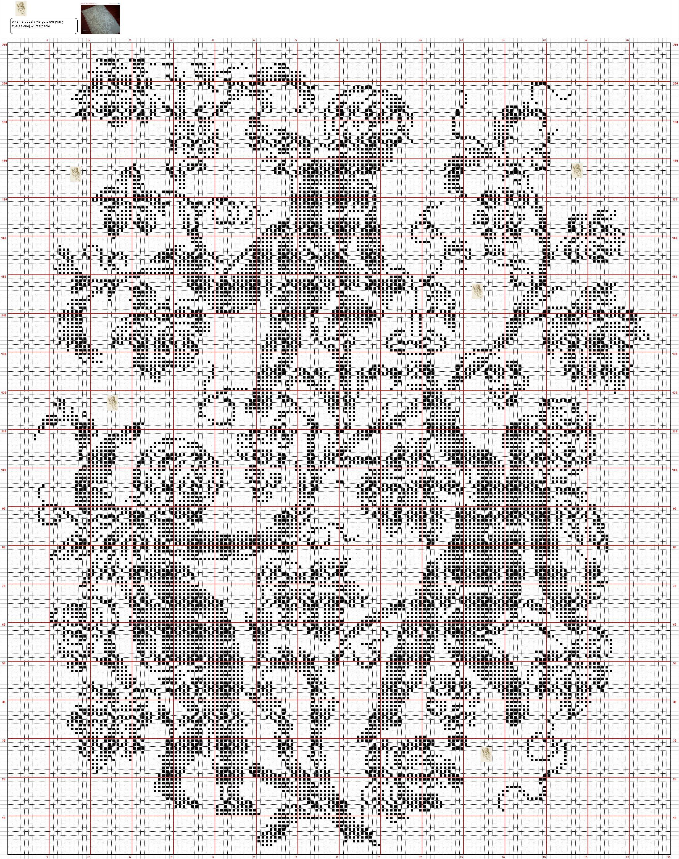 Ангелы в монохроме схема для вышивки