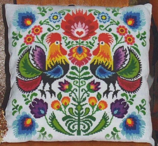 Схема вышивки подушка ангелы