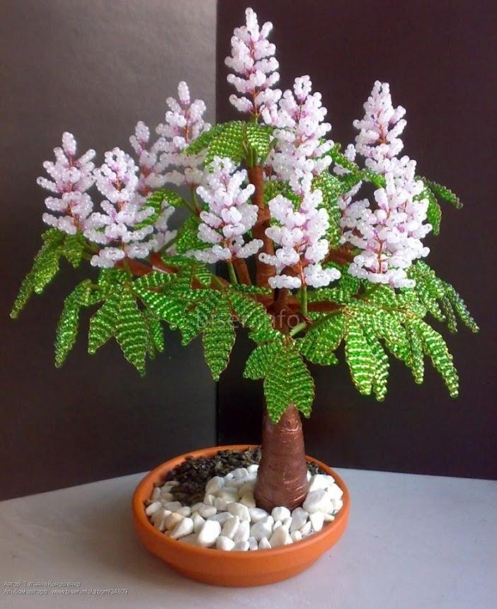 Деревья цветут из бисера мастер класс с пошаговым