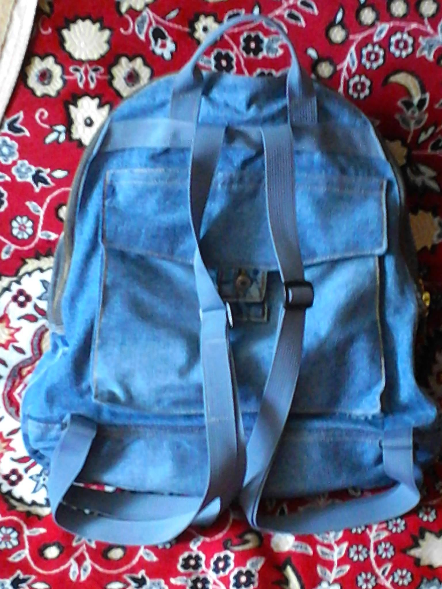 Рюкзак из джинсовой юбки