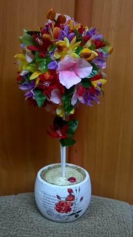 Топиарии из цветов