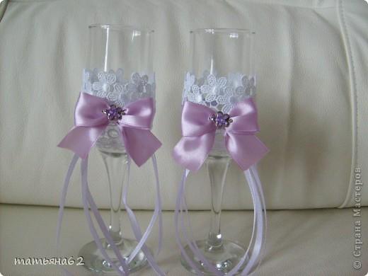 Оформление бокалов на свадьбу фото своими руками