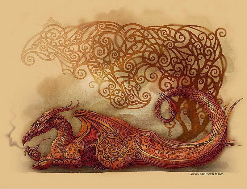 Для декупажа дракон