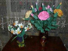 Букеты цветов из фоамирана