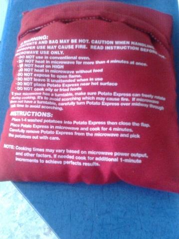 Вот в таком мешочке я пекла картошку в СВЧ!