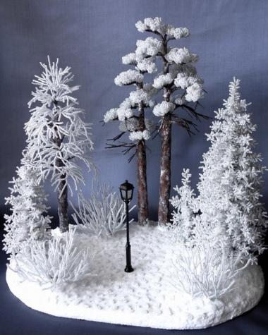 Зимняя композиция из бисера (из интернета)
