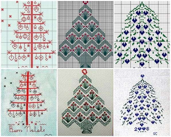 Зимняя вышивка: новогодняя елочка