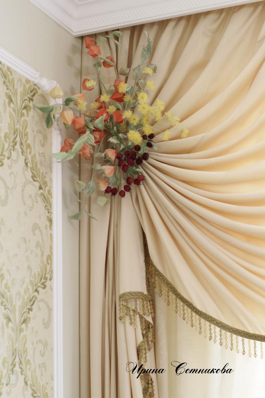 Как оригинально украсить шторы своими руками? (20 фото) 45