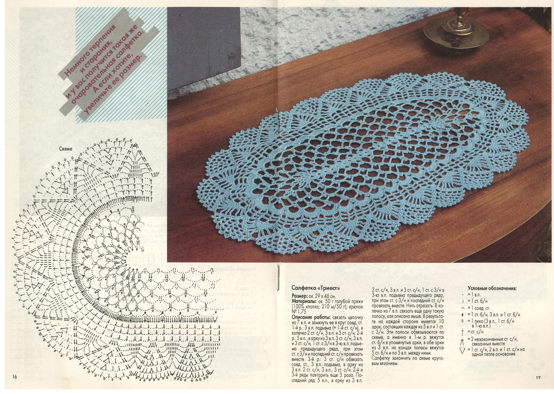 Вязание салфеток из журнала валя валентина 502