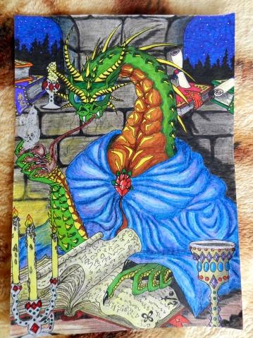 Мои рисунки. Ахтунг! Ахтунг! Очень много драконов!