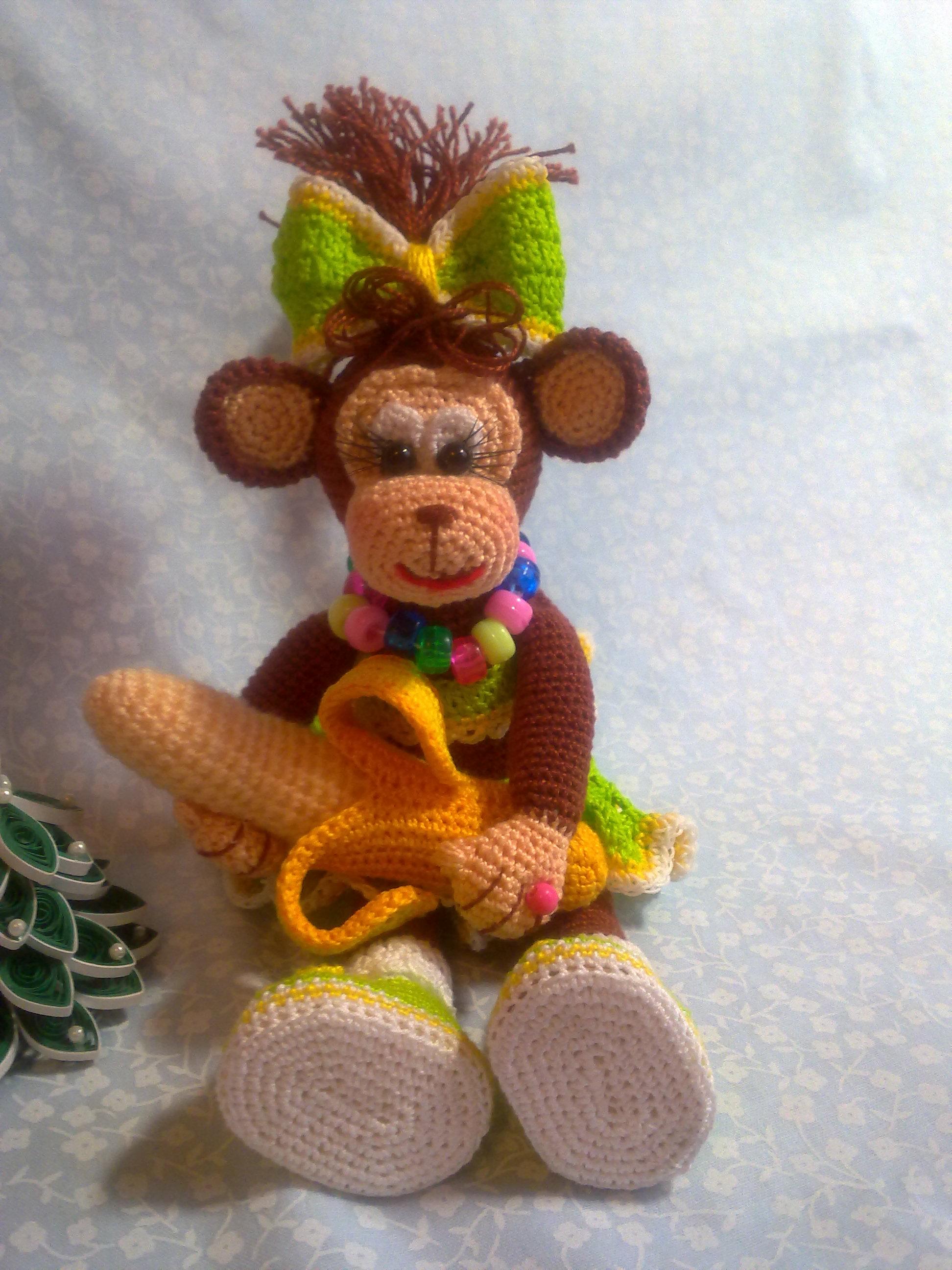 Игрушка обезьянка крючком схема фото 553