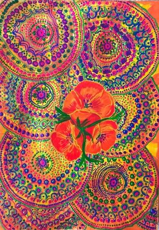 Контурные краски и роспись по дизайнерскому картону