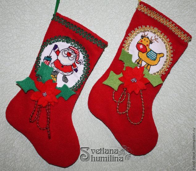 Рождественский сапог как сделать