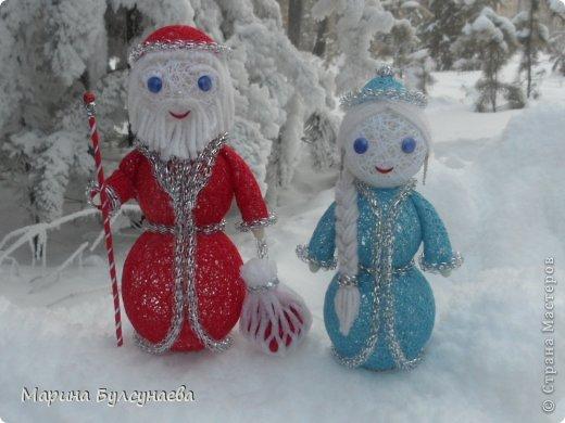 Дед мороз из ниток своими руками
