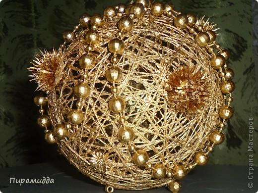 Поделки шар из ниток на новый год своими руками