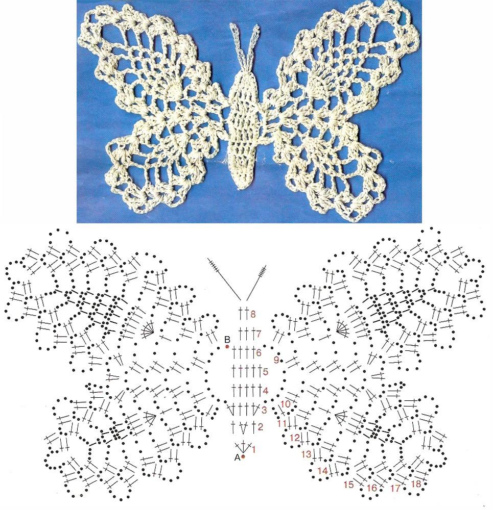 Бабочка вязание схема 44