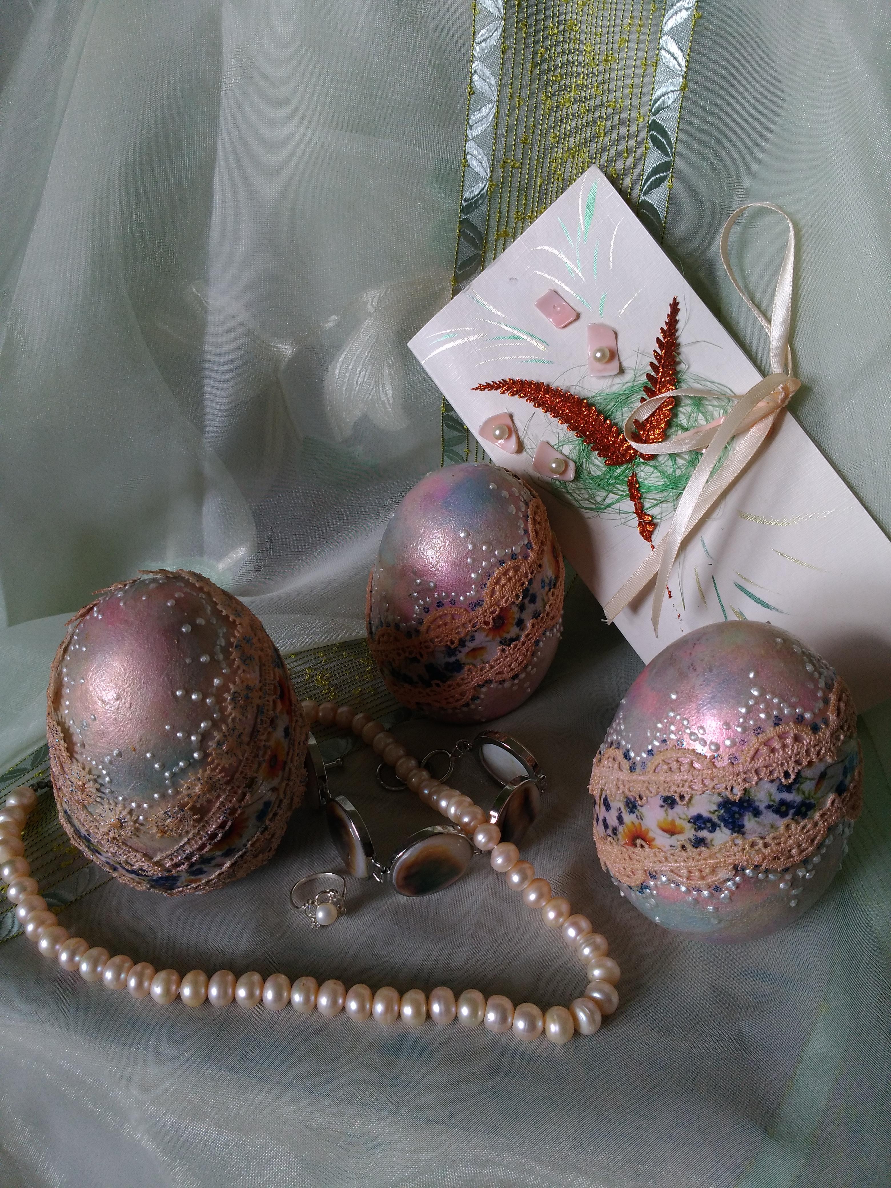 схема рождественская ночь для плетения яиц