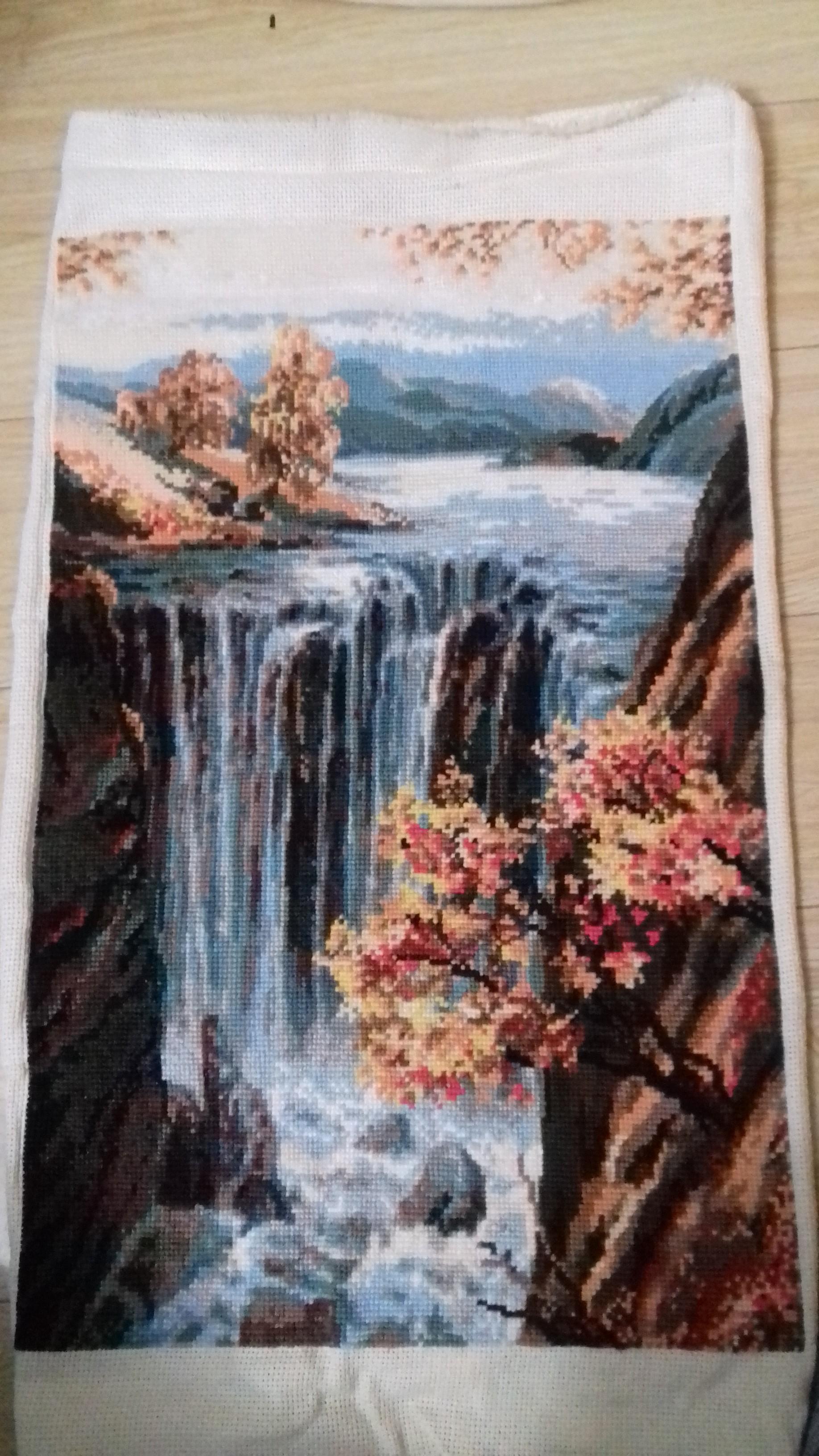 описание и схема работы водопада по стеклу