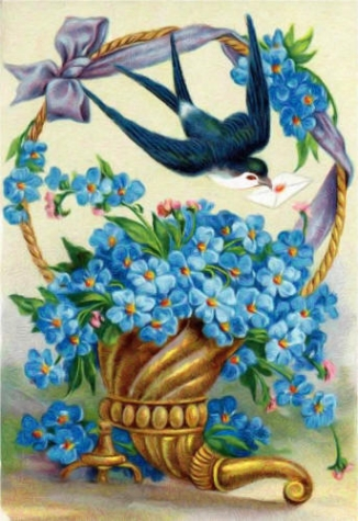 Незабудка,  незабудка - замечательный цветок ( легенды о незабудке )
